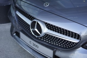 Mercedes-Benz C300 AMG, Diamond Pin Front Grille, Malaysia 2018