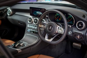 Mercedes-Benz C200 Coupe AMG Line, C205 Facelift, Dashboard, Malaysia 2018