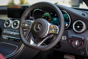 Mercedes-Benz C300 Coupe AMG Line, C205 Facelift, Steering Wheel, Malaysia 2018