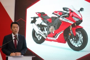 Boon Siew Honda Managing Director and Chief Executive Officer Keiichi Yasuda speaking at the launch event in KLIMS2018 - Copy