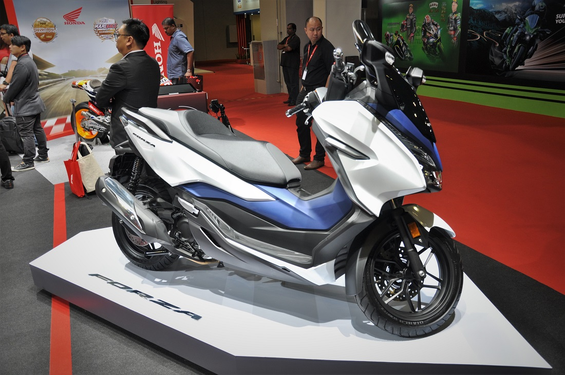 boon siew honda launched pcx hybrid forza and new. Black Bedroom Furniture Sets. Home Design Ideas