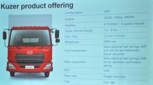 UD Trucks_Kuzer_Specs_Malaysia