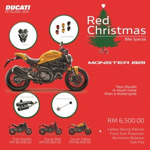 Ducati Monster 821_Ducati Malaysia Red Christmas Promotion Campaign_2018
