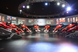 Ferrari Museum_Museo Ferrari_Michael 50_Hall of Victories_F1 Cars