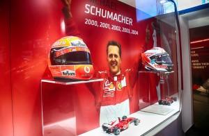 Ferrari Museum_Michael 50_Michael Schumacher_Racing Helmets_Display