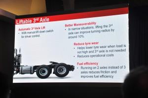 Hino SR1E 700 Series_6x2 Prime Mover_Launch_Liftable 3rd Axle_Malaysia