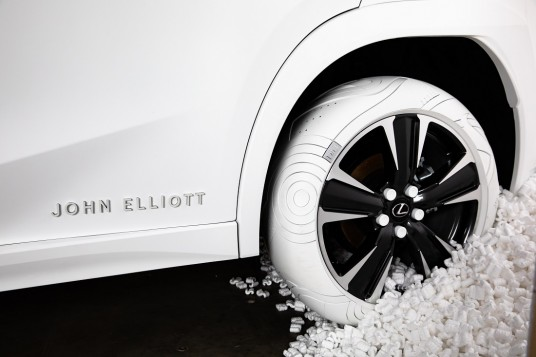 Lexus Partners With Designer John Elliot To Create Bespoke Tyres For New UX Crossover