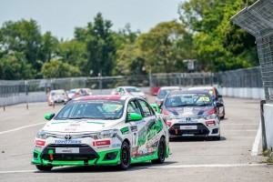 Syafiq Ali leads from start to finish in Race 2 of Toyota Vios Challenge in Batu Kawan.