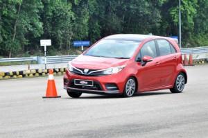 Proton Iriz 2019_Facelift_Test Drive_Slalom_Malaysia
