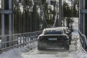 Porsche Taycan_Electric Sports Car_Winter Endurance Test_Scandinavia