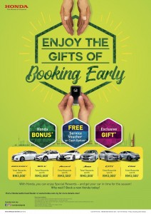 Honda Malaysia_Enjoy The Gifts Of Booking Early Campaign_April 2019