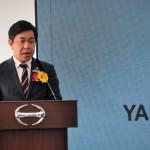 Takeshi Kitaoka, Managing Director of Yamato Transport (M) Sdn Bhd speaking at the launch.