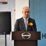 Hino Motors Sales (M) Sdn Bhd Managing Director, Atsushi Uchiyama addressing the audience.