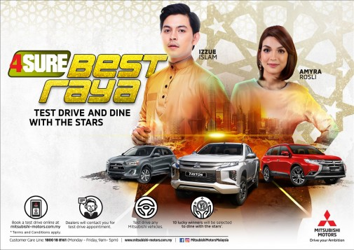Mitsubishi Motors Malaysia 4Sure Best Raya Contest Offers A Chance To Dine With Celebrities