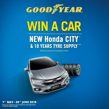 Goodyear Malaysia Ramadhan And Hari Raya Promotion Offers Up A Honda City And Free Tyres