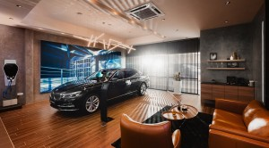 The interior of Lee Motors Autocare's revamped BMW showroom in Alor Setar