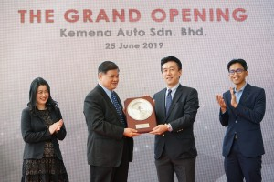 L-R: Ms. Dana Ling Foon, General Manager,Kemena Auto; Mr. Ling Chiong Sing, Managing Director, Kemena Auto; Mr. Toichi Ishiyama, Managing Director & Chief Executive Officer, Honda Malaysia; Mr. Sarly Adle Sarkum, President & Chief Operating Officer, Honda Malaysia at the launch