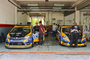 Team Proton R3 garage at the 2019 Malaysia Championship Series