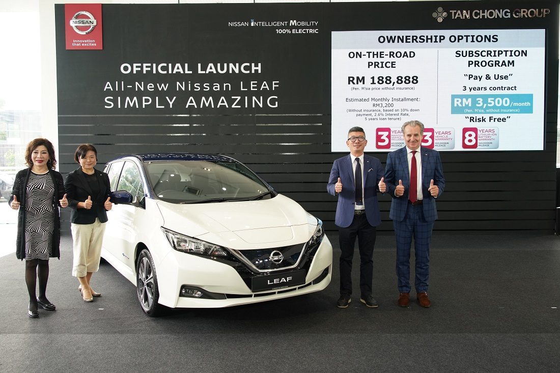 All New All Electric Nissan Leaf Launched In Malaysia