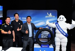 L-R: Walter Guan, Customer Engineering Support; Duy Pham, Marketing Manager, Michelin Malaysia; and Muhammad Arya Subrata, Commercial Director B2B, Michelin Malaysia at the MICHELIN Pilot Sport 4 SUV tyre launch.