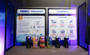 Trapo Asia car mats are partially made with recycled materials