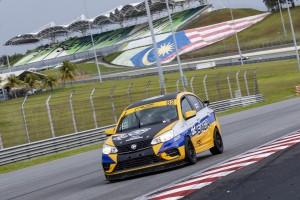 Team Proton R3 Proton Saga on Race Day in the 2019 Malaysia Championship Series