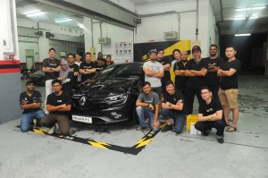 Renault Megane R.S. owners with the all-new Megane R.S. 280 Cup at Sepang