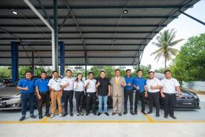 Staff of Shirba PROTON 3S Centre in Kota Kinabalu, Sabah