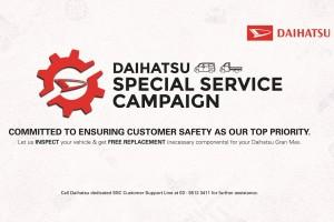 Daihatsu Malaysia Special Service Campaign for Gran Max