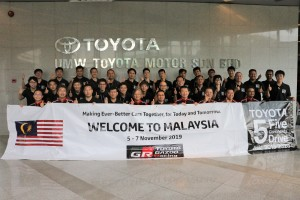 Toyota 5 Continents Drive Project_Group Photo at UMW Toyota HQ_Malaysia