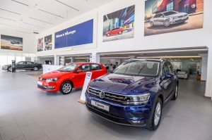 The VW Sg Besi showroom fits 9 display vehicles