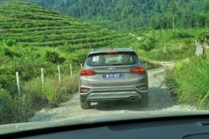 Hyundai Santa Fe_Dirt Road_Rear View