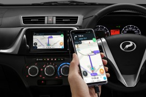 Perodua Bezza_Multimedia System with Navigation & 'Smart Link' for Android