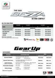 Perodua Bezza_Pricelist_2020