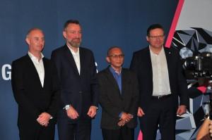 L-R: Andrew O'Brooks, Richard Frenz, Dato' Nazari & Thio Halter