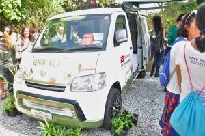 Daihatsu Gran Max Green Van_Rewilding Roadshow_Free Tree Society Kuala Lumpur