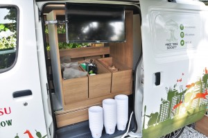 Daihatsu Gran Max Panel Van_Green Van_Interior_Free Tree Society Kuala Lumpur_Rewilding Roadshow