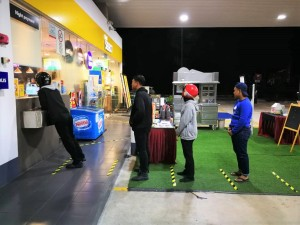 Shell Malaysia_Station_Social Distancing Markers