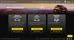 Renault E-Store_Welcome Page_Malaysia