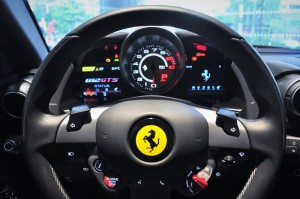 Ferrari 812 GTS_Steering Wheel_Controls_Information Display_Tachometer