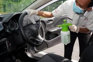 Honda Malaysia_Dealership_Sanitise Car