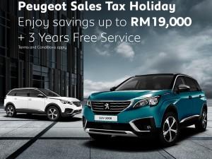Peugeot_Malaysia_Sales Tax Holida_2020