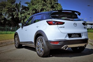 Mazda CX-3 Limited Edition_Rear Trunk Spoiler_Exhaust Tips_Diffuser