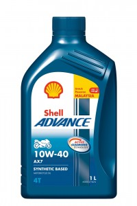 Shell Advance AX7 10W-40_1 Litre Pack