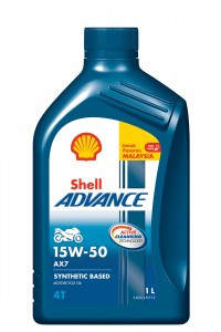 Shell Advance AX7 15W-50_1 Litre Pack