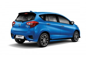 Perodua Myvi AV_Electric Blue_Rear View