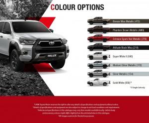 Toyota Hilux 2020_Colour Options
