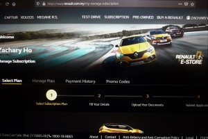 Renault e-store_Car Subscription