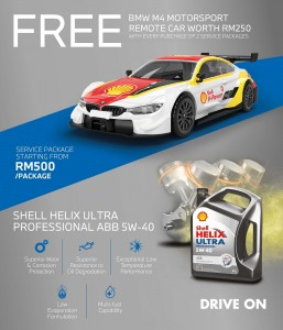 BMW Malaysia_Oil Service Package_Shell Helix Ultra_M4 Motorsport Collectible