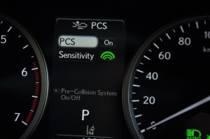 Lexus Safety System +_LSS+_Pre Collision System_Menu